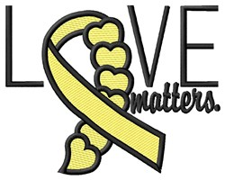 Love Matters embroidery design