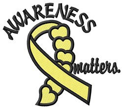 Awareness Matters embroidery design