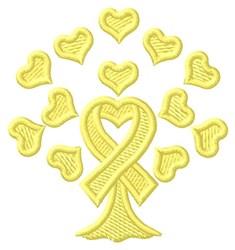 Suicide Prevention Tree embroidery design