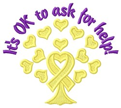 Ask For Help embroidery design