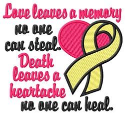 Heartache embroidery design
