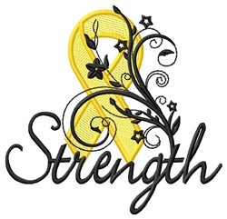 Strength embroidery design