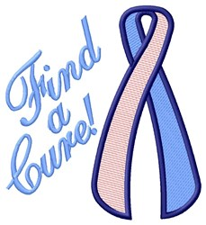 Find A Cure embroidery design