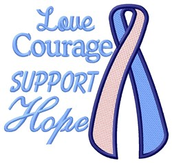 Courage Hope embroidery design