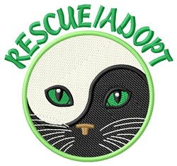 Rescue/Adopt embroidery design
