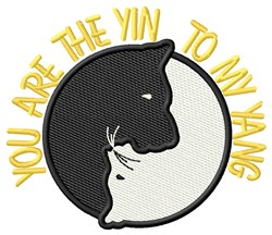 Yin Yang Dog Cat embroidery design
