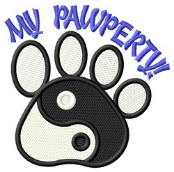 My Pawperty! embroidery design