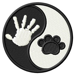 Hand & Dog Paw embroidery design