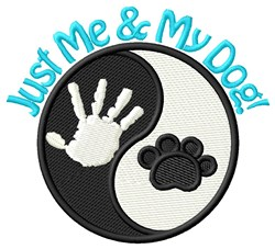 Me & My Dog embroidery design