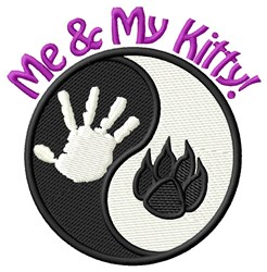 Me & My Kitty! embroidery design