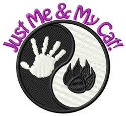 Me & My Cat! embroidery design