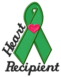 Heart Recipient embroidery design