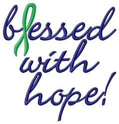 Bessed With Hope embroidery design