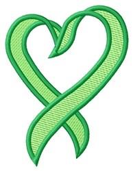 Heart Ribbon embroidery design