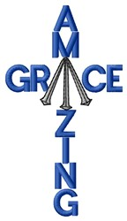 Amazing Grace embroidery design