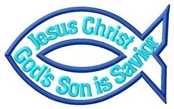 Jesus Savior embroidery design