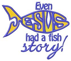 Fish Story embroidery design
