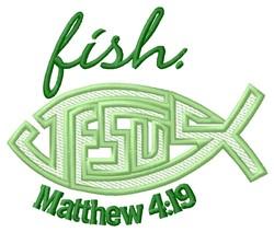 Matthew 4:19 embroidery design