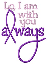 With You Always embroidery design
