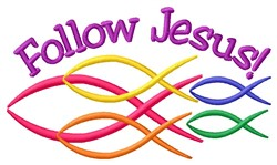 Follow Jesus embroidery design