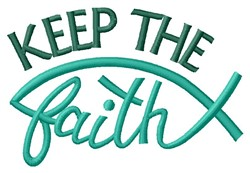 Keep Faith embroidery design