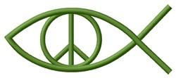 Peace Fish embroidery design