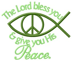 His Peace embroidery design