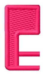 Letter E embroidery design