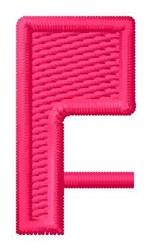 Letter F embroidery design
