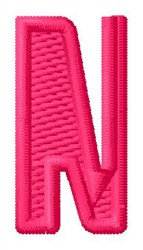 Letter N embroidery design