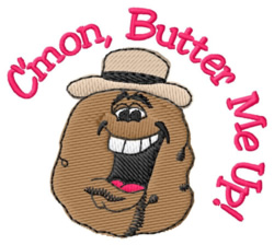Butter Me Up embroidery design
