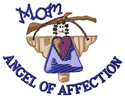 Angel of Affection embroidery design