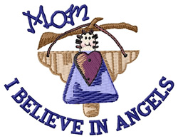 I Believe In Angels embroidery design