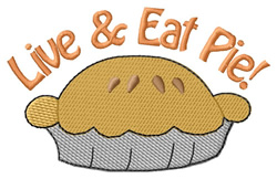 Eat Pie embroidery design