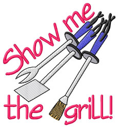 Show Me The Grill embroidery design