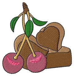Cherries & Chocolate embroidery design