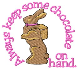 Chocolate On Hand embroidery design