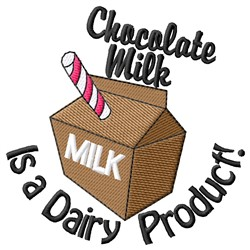 A Dairy Product embroidery design