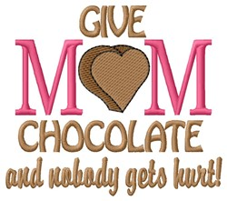 Give Mom embroidery design