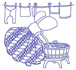Bluework Washing Sue embroidery design