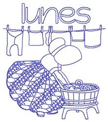Spanish Monday Lady embroidery design