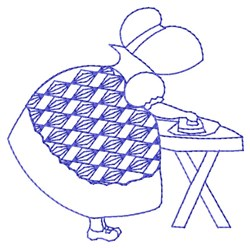 Bluework Ironing Sue embroidery design