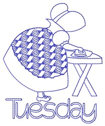 Tuesday Ironing embroidery design