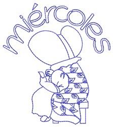 Spanish Wednesday Lady embroidery design