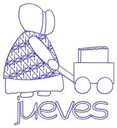Spanish Thursday Lady embroidery design