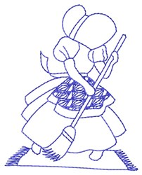 Bluework Cleaning Sue embroidery design