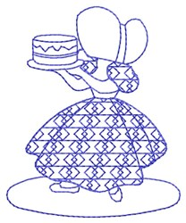 Bluework Baking Sue embroidery design