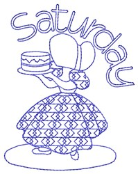 Saturday Baking embroidery design