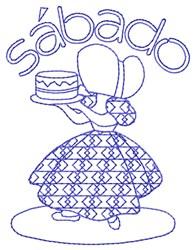 Spanish Saturday Lady embroidery design