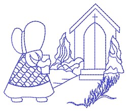 Bluework Church Sue embroidery design